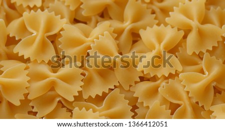 Dry uncooked Farfalle