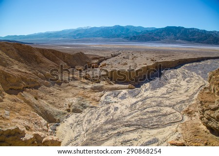 Dry wash in Death Valley National Park, CA