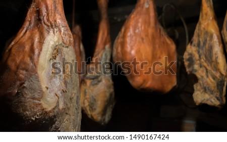Dryer of artisan serrano ham in Leon