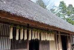 drying radish at Japanese old house