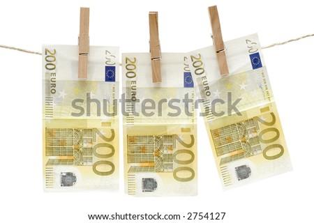 Drying Two Hundred Euro Bills