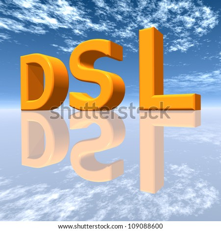 DSL Computer generated 3D illustration - stock photo