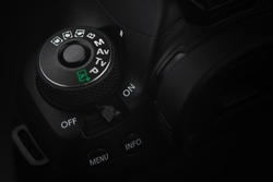 DSLR Camera control buttons on canon body