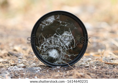 Dslr lens ND filter Broken by impact of stone