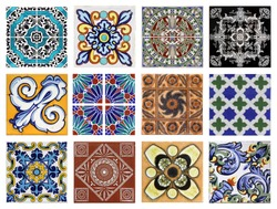 Dtail of the traditional tiles fromhouses in Valencia, Spain