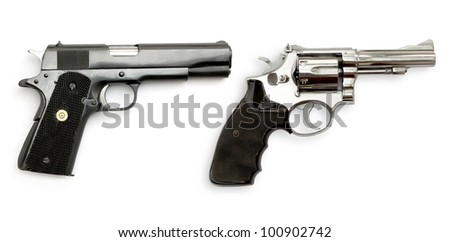 Dual Gun on white background