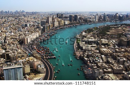 Dubai creek. Gulf of Dubai, United Arab Emirates