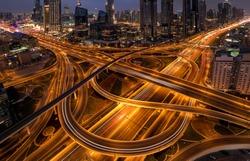 Dubai highway in Downtown