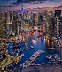 Dubai Marina From The Top
