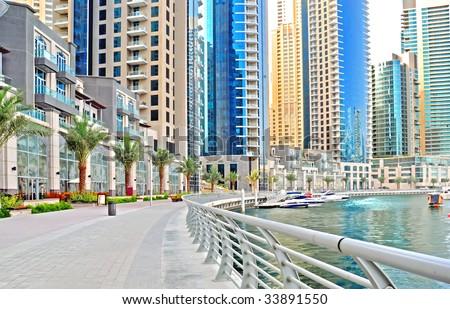 Dubai MARINA PROMENADE Stock Photo 33891550 : Shutterstock