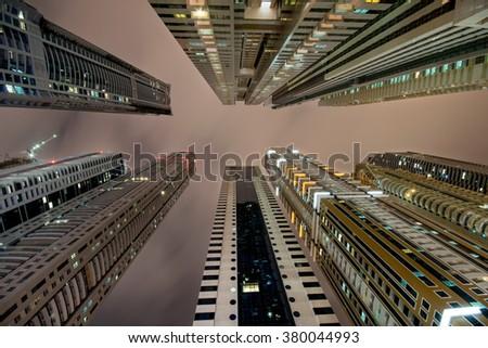 Dubai marina skyline #380044993