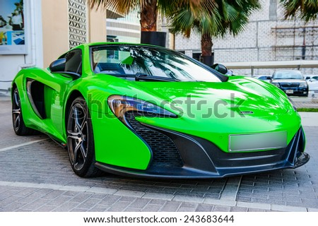 DUBAI - NOVEMBER 26: New cars presentation at yearly automotive-show \