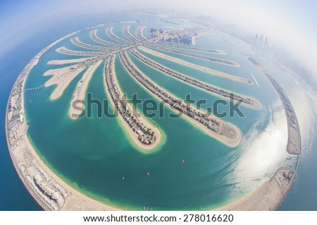 Dubai Palm Island from Parachute