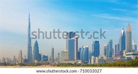 Dubai - The skyline of Downtown. #710032027