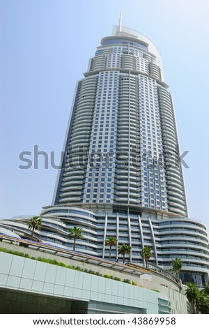 Dubai uae august 27 the address downtown burj dubai for World biggest hotel in dubai