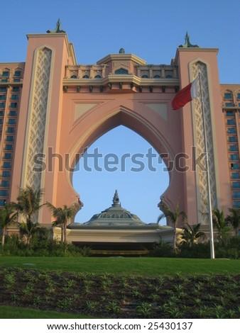Dubai, UAE - Dec 28: The newly opened multi-million dollar Atlantis Resort, Hotel & Theme Park at the Palm Jumeirah Island in Dubai, United Arab Emirates  on December 28, 2008
