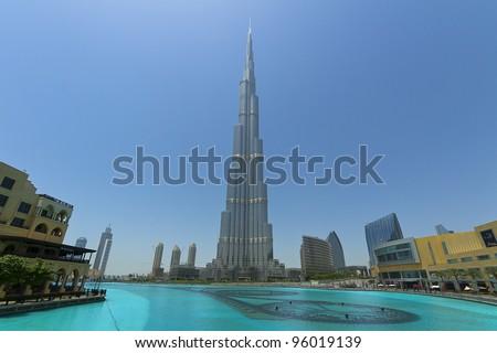 DUBAI, UAE - JAN 29: Burj Khalifa, world's tallest tower, Downtown Burj Dubai January 29, 2012 in Dubai, United Arab Emirates