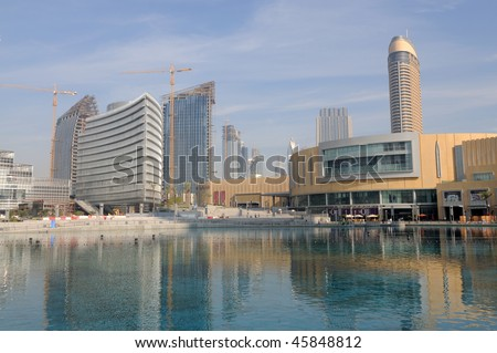 dubai mall pics. UAE - JAN 18: Dubai Mall,
