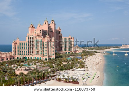DUBAI, UAE - JANUARY 20: Atlantis hotel on January 20, 2011 in Dubai, UAE. Atlantis the Palm is a luxury 5 star hotel built on an artificial island