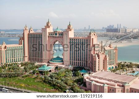 DUBAI, UAE - JANUARY 20: Atlantis hotel on January 20, 2011 in Dubai, UAE. Atlantis the Palm is a luxury 5 star hotel built on an artificial island