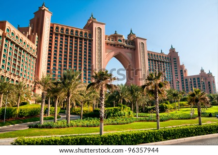 DUBAI, UAE - JANUARY 31: Atlantis, the Palm hotel in Dubai, UAE on January 31, 2012. Hotel with a total of 1539 rooms.