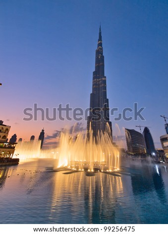 DUBAI, UAE - JANUARY 17: Burj Khalifa facade on January 17, 2010 in Dubai, UAE. Burj Khalifa is a tallest building in the world, at 828m. Located on Downtown Dubai, Sheikh Zayed Road.