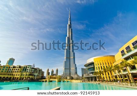 Dubai, Uae - January 4: Burj Khalifa, World\'S Tallest Tower, Downtown Burj Dubai January 4, 2012 In Dubai, United Arab Emirates.