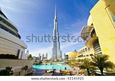 DUBAI, UAE - JANUARY 4: Burj Khalifa, world's tallest tower, Downtown Burj Dubai January 4, 2012 in Dubai, United Arab Emirates.