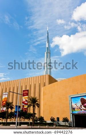 DUBAI, UAE - JANUARY 13: The Burj Khalifa, tallest building in the world, taken on January 12th 2011 in Dubai,UAE