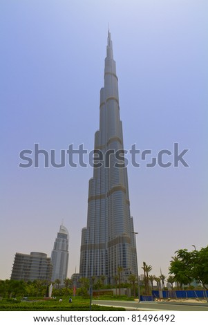DUBAI, UAE - JULY 12: Burj Khalifa, world's tallest tower, Downtown Burj Dubai July 12, 2011 in Dubai, United Arab Emirates.