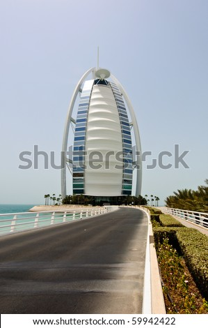 Dubai uae july 30 the grand sail shaped burj al arab for The sail hotel dubai