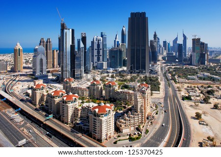 DUBAI, UAE - MAY 7 - Dubai International Financial Centre (DIFC) is an on-shore financial hub helping business and financial institutions to reach the emerging markets. Picture taken on May 7, 2010.