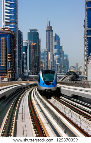 DUBAI, UAE - MAY 9 - Planning of the Dubai Metro began under the directive of Dubai's ruler Sheikh Mohammed bin Rashid Al Maktoum. Picture taken on May 9, 2010.