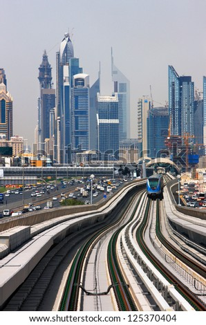 DUBAI, UAE - MAY 9 - The construction cost of the Dubai Metro project has shot up by about 80 per cent from the original US$ 4.2 billion to US$ 7.6 billion. Picture taken on May 9, 2010.