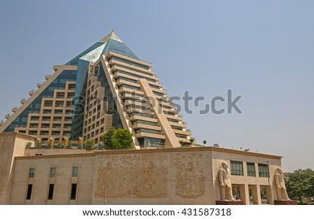 DUBAI, UAE - MAY 16, 2016: view on WAFI Mall in Dubai