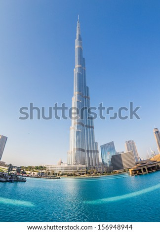 DUBAI UAE NOVEMBER 13 Burj Khalifa on November 13 2012 in Dubai UAE Burj Khalifa is currently the tallest building in the world at 829.84 m 2 723 ft