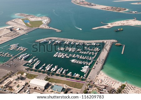 DUBAI, UAE - NOVEMBER 26: Dubai International Marine Club, Dubai, United Arab Emirates, Nov 26, 2011. Dubai is the most expensive city in the Middle East.