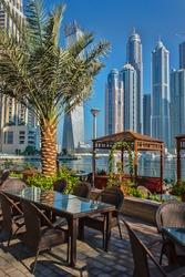 DUBAI, UAE - NOVEMBER 13: High rise buildings and streets nov 13. 2012  in Dubai, UAE