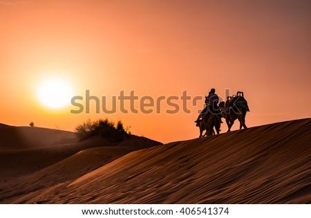 Dubai, UAE - 29th Feb, 2016: Dune bashing at Desert safari in  Land Cruiser