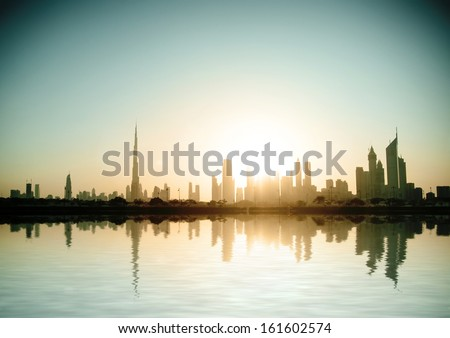 Dubai, United Arab Emirates. Beautiful beach and sea #161602574