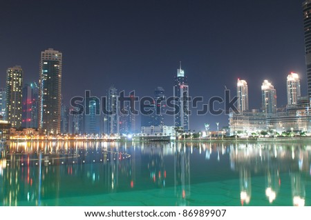 Dubai view at night time