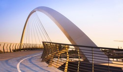 Dubai Water Canal Bridge New Attraction of Dubai City, best place to visit in dubai, travel tourist destination, modern architecture work