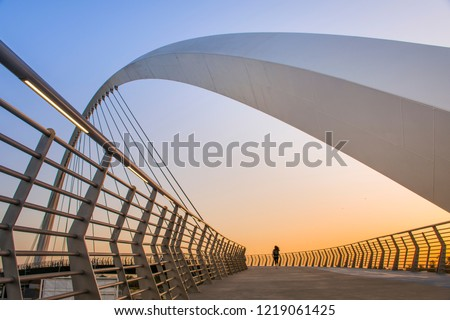 Dubai Water Canal Tolerance Bridge, Place to visit in UAE Amazing modern architecture #1219061425
