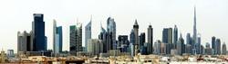 Dubai. World Trade center and Burj Khalifa