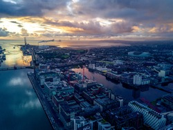 Dublin Docks by Drone, Ireland