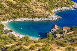 Dubovica beach and bay on Hvar Island, the Adriatic Sea, Croatia