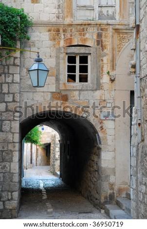 Dubrovnik alley way