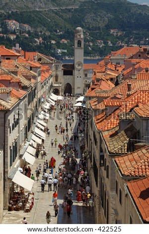 Dubrovnik (Croatia) - The main street of the old town