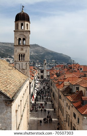 dubrovnik old city - stock photo