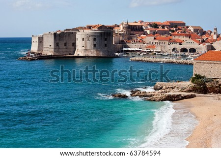 Dubrovnik Old City on the Adriatic Sea in Croatia, Dalmatia region